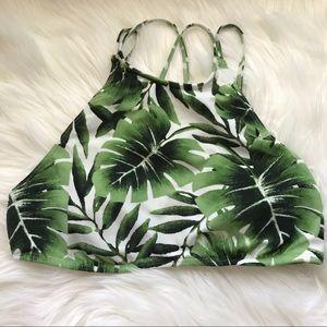 Other - Leaf Halter Bathing Suit Top